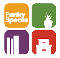 funky spaces email logo